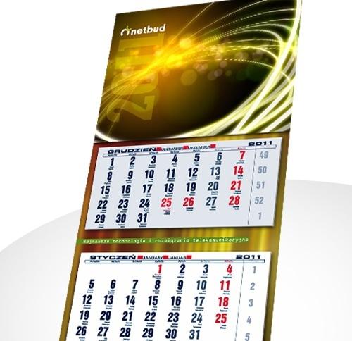 Kalendarz trójdzielny Netbud