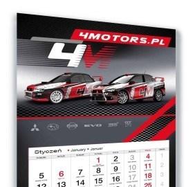 Kalendarz trójdzielny 4Motors