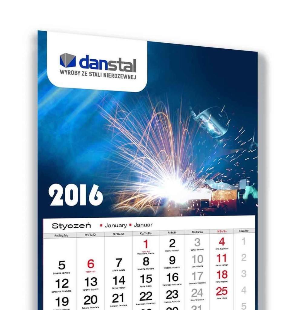 Kalendarz trójdzielny Danstal
