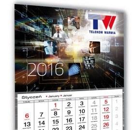 Kalendarz trójdzielny Telekom Warmia