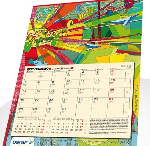 Kalendarz jednodzielny Agraf