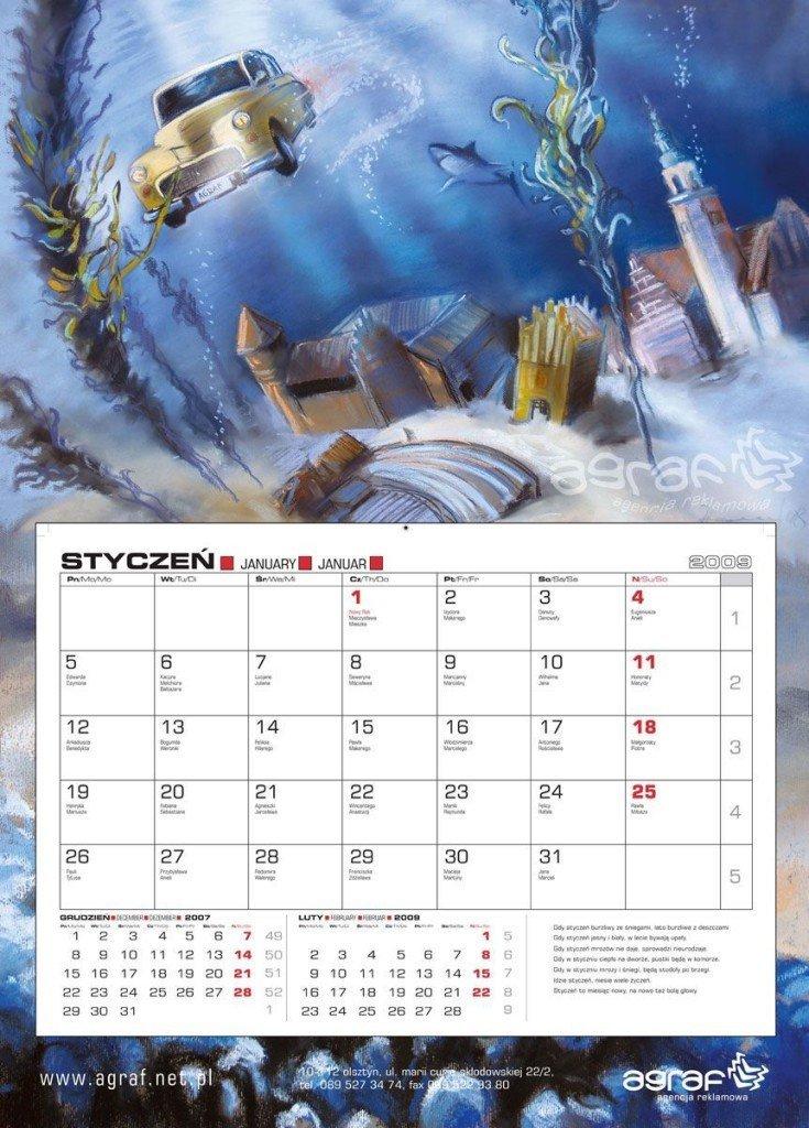 Kalendarz jednodzielny AGRAF 2009