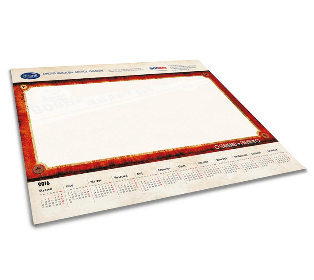 Kalendarz podkładowy Wodmax