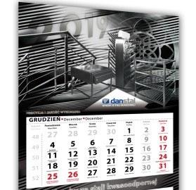 Kalendarz trójdzielny DANSTAL.